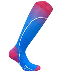 Vitalsox Graduated Compression Bacteria Resistant Recovery Socks, Large, Turquoise VT0616 by Vitalsox