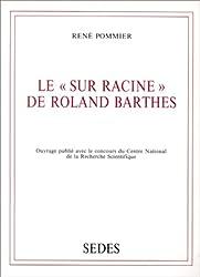 Le «Sur Racine» de Roland Barthes