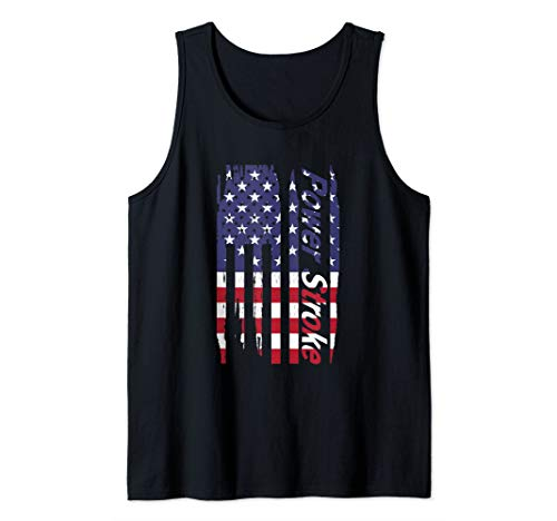- Power Stroke American Flag  Tank Top