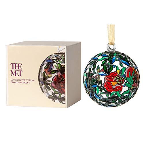 MMA Christmas Decorations Glass Christmas Ornaments Louis C. Tiffany Christmas Ornament Glass Ornaments - Peony (Tiffany Christmas)