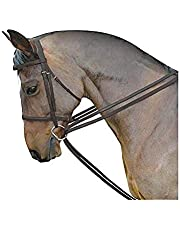 Kincade Leather Draw Reins Set (One Size) (Brown)