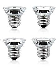 Bonlux 50 W E27 verwarmingslamp, UVA+UVB, lamp met compleet spectrum, dimbaar, 220 V, zonnebadlamp voor reptielen en amfibieën, hagedis (4 stuks, 2700 K)