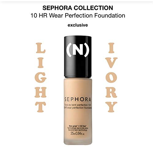SEPHORA COLLECTION 10 HR Wear Perfection Foundation 10 Light Ivory (N) 0.84 oz