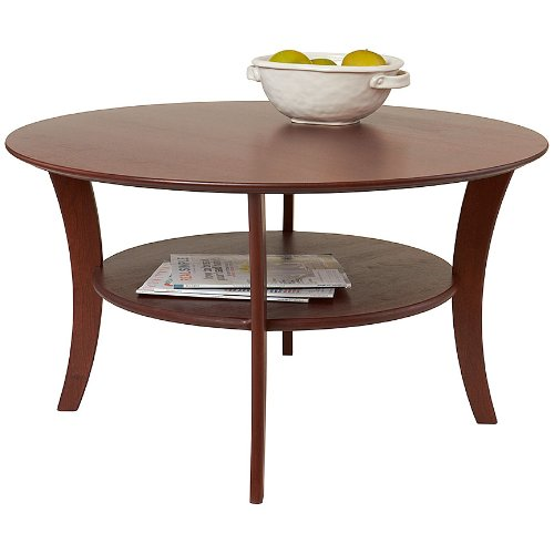 Manchester Wood Round Cherry Coffee Table - Heritage Cherry American Heritage Coffee Table