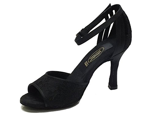 Macramè Nero Dance Shoes Raso 411 Nero Black Dance Women's Nero Fiore Shoes Vitiello Raso Nero aROw8Wq