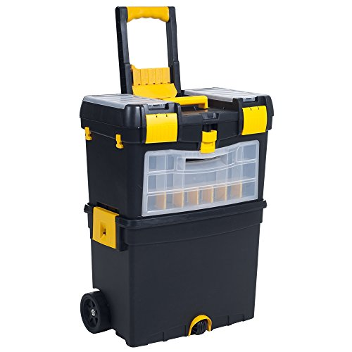 Heavy Duty Rolling Toolbox with Foldable Comfort Handle & Removable