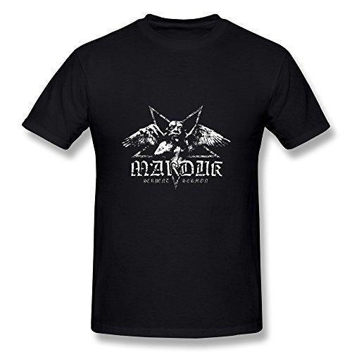 YONGDE Men's Marduk Metal Rock Nightwing T Shirt M Black