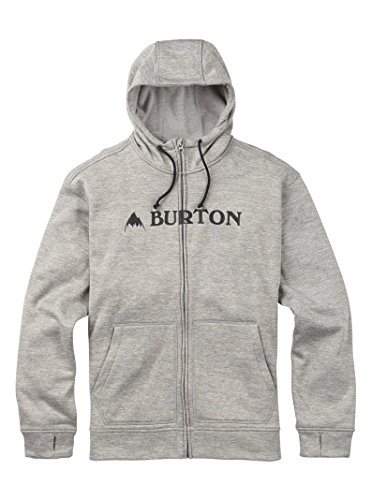 Cable Henley Sweater - Burton Men's Oak Full-Zip Hoodie, Monument Heather, Small