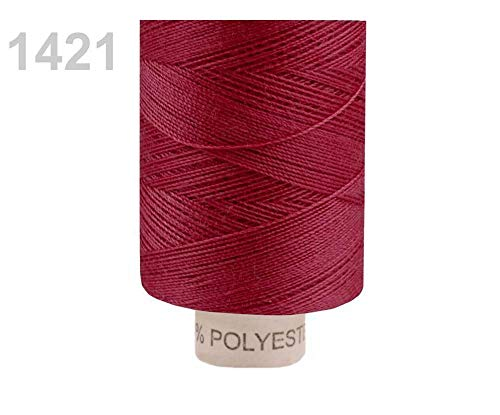 5pc 1421 Zinfandel Polyester Sewing Thread Ribbon 14,8 x 2; 500m Per Spool, Threads, Haberdashery