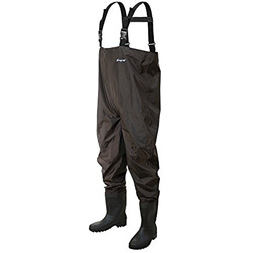 Frogg Toggs Rana II PVC Chest Wader with Cleated Sole, Brown, Size 10