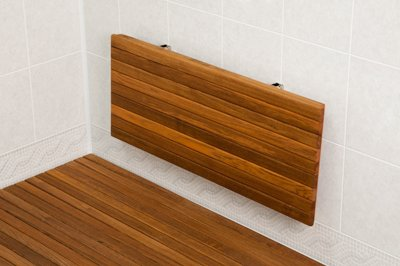 fold down shower chair. amazon.com: plantation teak wall mount fold down shower bench/seat (30\ chair