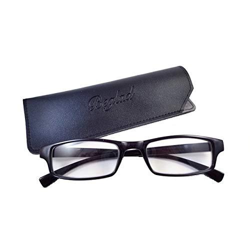 BEGLAD (《비구랏도》) 시니어 글래스 안경 돋보기  세련된 케이스 첨부 BGT1009BK 심플한 디자인에 스타일리시 6색 +1.0~+3.0 (블랙 +1.0)