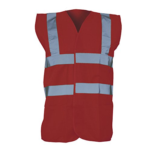 Yoko Unisex Premium Hi-Vis Waistcoat Vest / Jacket (S) (Maroon)