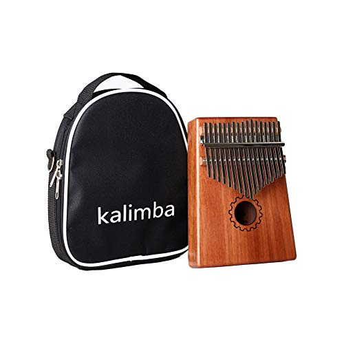 Portable 17 Key Kalimba Thumb Piano Beginners Keyboard Wood Musical Instrument Finger Percussion with Bag (Gear port) from Jinsy