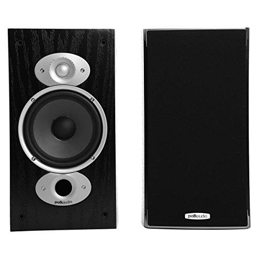 Polk Audio RTI-A3 - Par de caixas acústicas Bookshelf para Home Theater Preto