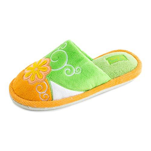 Pantofole Floreali Invernali Da Donna, Comfort Verde