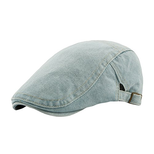 Unisex Gorro Sombrero Adulto Gorro Beret Plano Visera Jean Acvip Ajustable Claro Azul q6q7xtHa