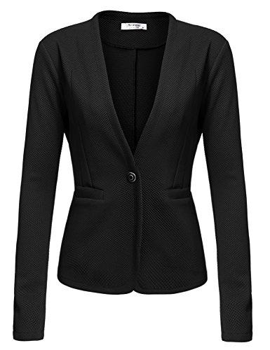 Beyove Women's Basic Boyfriend Long Sleeve Blazer Jacket Suits black M…