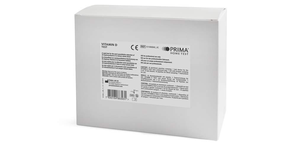 PRIMA Home Test - Prueba de Vitamina D (10 Test) - Uso Profesional ...