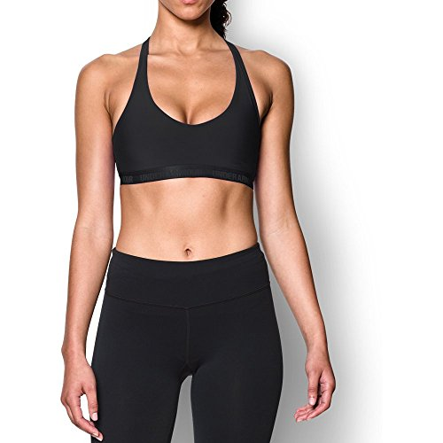 Under Armour Womens Armour Low Bra, Black (001)/Black, Medium