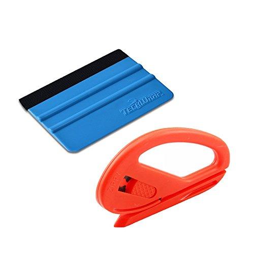 7MO Car Wrap Installation Tool Kit Felt Edge Squeegee,Snitty Vinyl Cutter Knife for Vinyl Application 1 Set
