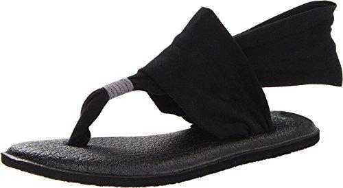 Sanuk Women's Yoga Sling 2 Flip Flop,Black,8 M US