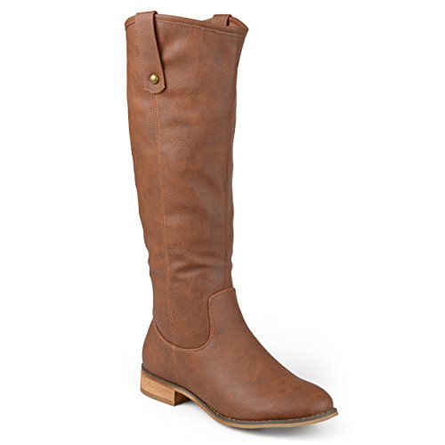 - Journee Collection Womens Regular, Wide and Extra Wide Calf Round Toe Mid-Calf Boots Brown, 8.5 Extra Wide Calf US