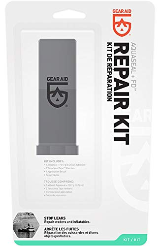 Gear Aid Aquaseal FD Repair Kit for Waders and Vinyl, 0.25 oz Adhesive + 3