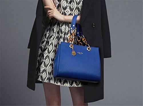 Unique Sac Mode SHOUTIBAO capacité Bag Main à Mesdames Messenger blue à Multi Sac Couleurs Sac Grande Compartiment Quatre bandoulière t1SSqw