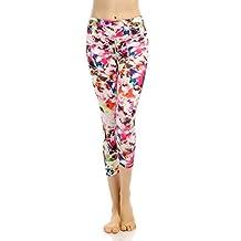 X-Fit Sports Women's Legging Fitness Running Gym Nylon Capri Pants With Pockets
