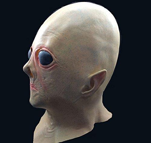 (Halloween Festival Party Show Celebration Prop Bar Decoration Cos Cosplay UFO Alien Martian Ghost Horror Head Mask Masquerade)
