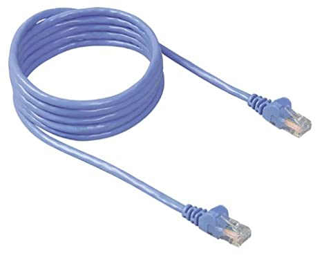 Amazon Belkin 50 Foot RJ45 CAT 5e Snagless Molded Patch Cable Blue Electronics