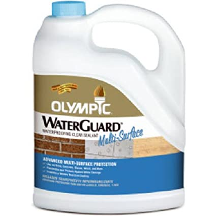 Olympic Stain Waterguard Waterproofing Clear Sealant for Wood, Concrete, Brick - 1 gal.