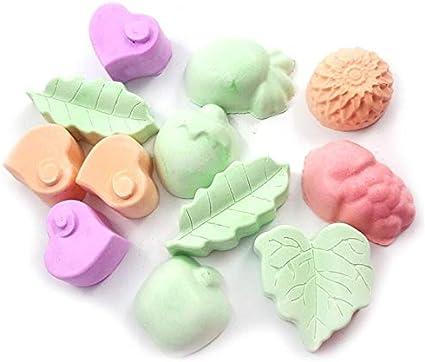 DIU 5Pcs Pequeños Juguetes para Masticar Animales de Mascotas para Chinchilla/Hámster Forma de Fruta Minerales Piedra Molar Piedra en Forma de Zanahoria Molar para Mascotas
