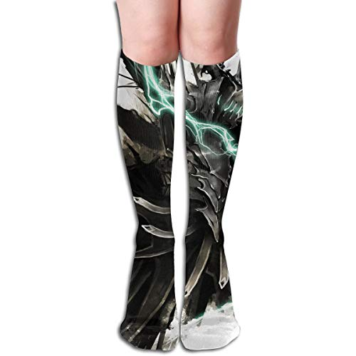 Bandnae 19.68 Inch Compression Socks Lightning Airbrushed High Boots Stockings Long Hose for Yoga Walking for Women Man ()