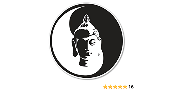"Buddha Thai Do Not Be Self Fish Car Bumper Sticker Decal 4/"" x 5/"""