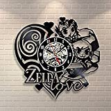Zelda Vinyl Record Clock Home Design Room Art Decor Handmade Vintage