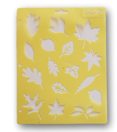 Stencil Leaf - Painting Stencil - Leaves - 8.5 x 11 inches