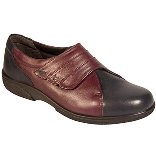 Db Shoes Womens Bakewell Wide Fitting Shoes 78312P EE Navy/Plum 7V0Txmghf