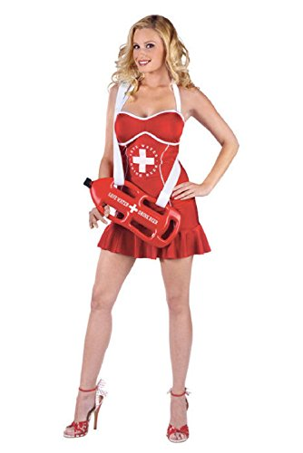 [Sexy Happy Hour Off Duty Female Lifeguard Adult Halloween Costume] (Off Duty Lifeguard Costumes)