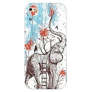 ZMY caso trasero duro del patrón de elefante para el iphone 6 más