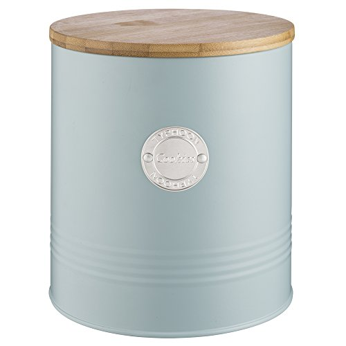 - Typhoon Living Airtight Biscuit/Cookie Storage Canister with Bamboo Lid, 3.4 Litre, Blue