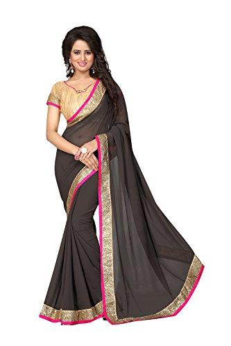 Wedding for Sarees Party Designer Wear Women Saree Gray 2 Da Traditional Indian Facioun pAwXSX