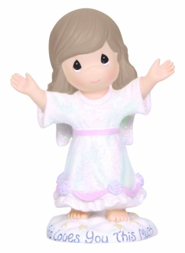 (Precious Moments, God Loves You This Much, Resin Figurine, 124403)