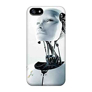 CADike Iphone 5/5s Hybrid PC Case Cover Silicon Bumper Robot