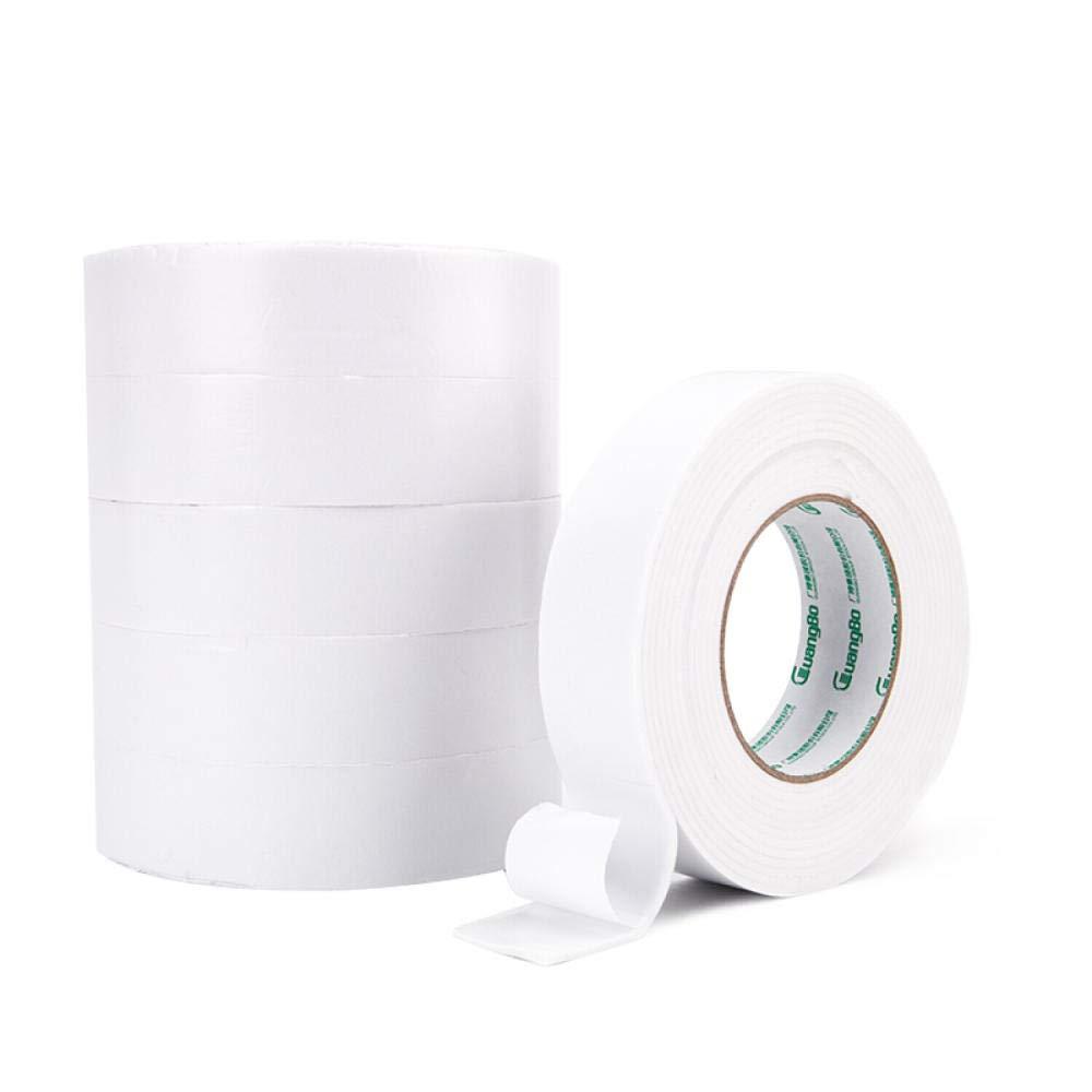 12mm5 Meters CHINAJIAODAI Adhesive Tape 6 Rolls 24mm5 Meters Double-Sided Sponge Tape Foam Foam Tape Office Stationery,6 Rolls