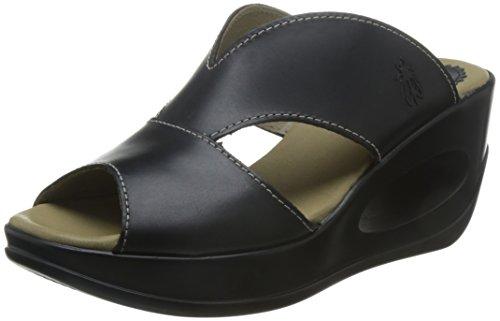 FLY Zapatos vestir de para London mujer negro Piel de wrrtHq