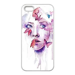 Custom Colorful Case for Iphone 5,5S, Art Design Of Girl Cover Case - HL-R674212
