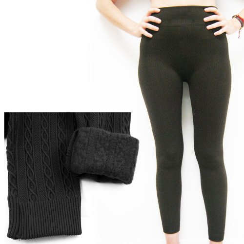 Cotton Sweater Stretch Footless Leggings