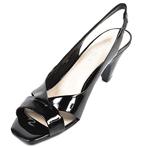 NINE WEST - Sandalias De La Correa De Honda De Trasera Mujer NWNILE BLACK Tacón: 7 cm